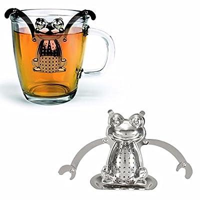 DIY En acier inoxydable Grenouille en vrac Infuseur filtre à thé Herbal Spice Passoire