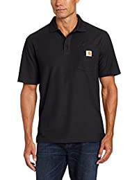 Carhartt Mens Contractor Work Pocket Polo Steel Blue K570