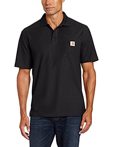 Carhartt .K570.BLK.S007 Contractor Work Pocket Polo, X-Large, Black