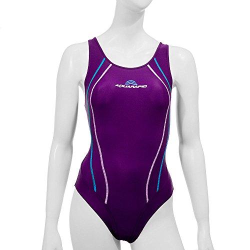 Aquarapid Adhil Costume da Nuoto, Donna, Blu, 1 (40)