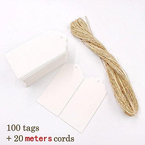 gle papier Geschenkanhänger + 20m Jute Hanfseil, klein Etiketten für Gastgeschenk Box Lesezeichen Adventskalender Hochzeit Geburtstag Party Karte, Größe 9 x 4.5cm (Halloween-lesezeichen, Handwerk)