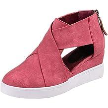c8b17f408f2d6 Zapatos de cuña Zapatos de Vestir Ayuda para Mujer Otoño Invierno Moda 2018  PAOLIAN Calzado de