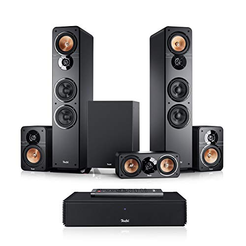 Teufel Ultima 40 Surround Complete 5.1-Set Schwarz Heimkino Lautsprecher 5.1 Soundanlage Kino Raumklang Surround Subwoofer Movie High-End HiFi