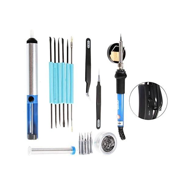Kit del soldador, Dr.meter 19 en 1 220V 60W con Caja de herramientas, 5