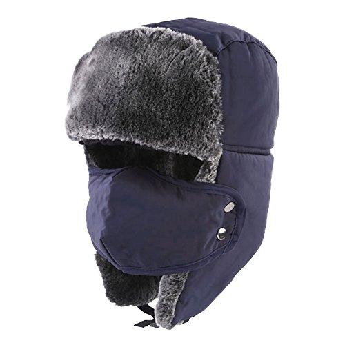 Wintermütze mit Ohrenklappen, Unisex Klassische Trappermütze, Trapper Hat,...