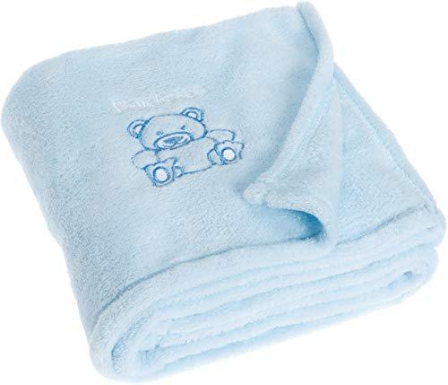 Playshoes Baby und Kinder Fleece-Decke, vielseitig nutzbare Kuscheldecke für Jungen und Mädchen, 75 x 100 cm, mit Bär-Stickung (Weiche Decken Für Teens)