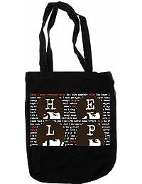 My de tagshirt–Organic Fashion Bag–Beatles–100% BIO–Comercio Justo–Negro