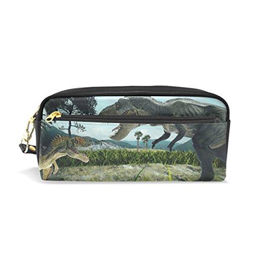 jstel 3D rendering Dinosaurier Schule Bleistift Tasche für Kid Jungen Kinder Teens Stifthalter Kosmetik Make-up-Tasche Frauen Haltbare Stationery Pouch Bag großes Fassungsvermögen
