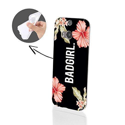 4-punkt-dual-link (FINOO | HTC One M8 Weiche flexible Silikon-Handy-Hülle | Transparente TPU Cover Schale mit Motiv Muster | Tasche Case mit Ultra Slim Rundum-schutz | stoßfestes dünnes Bumper Etui | Badgirl)