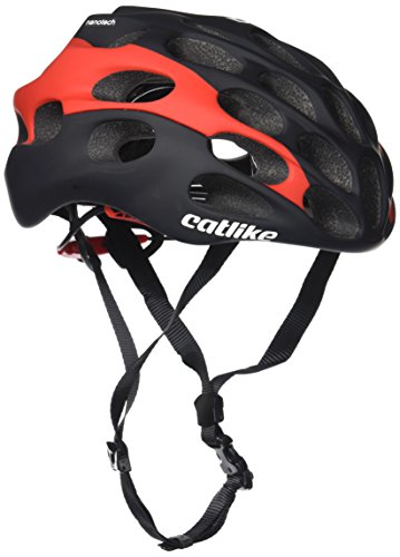Casco Catlike Mixino SV Cycling, Unisex Adulto, Nero (Nero / Rosso Opaco), LG