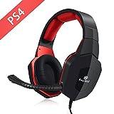 PS4 Headset, EasySMX Kabelgebundenes Gaming Headset für PS4 kompatibel mit PC Tablets mit...