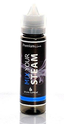 """e-Liquid """" HIMBEER KICK """" 60 ml MIX YOUR STEAM ohne Nikotin Premium Qualität Geschmack: lecker fruchtig himbeerig . Für e-Zigaretten und e-shishas"""