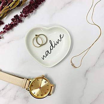 Ringschale Herz Hochzeit personalisiert mit Namen Keramik