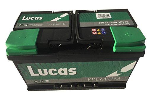 Lucas Batterie Voitures Premium LP110 LB4 12 V 80AH 800 AMPS (en)