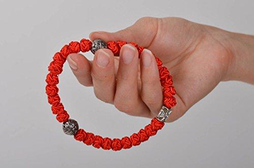 Brojanica Armband handgefertigte Gebetskette Christen Schmuck christlich in Rot