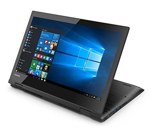 Toshiba Radius 14 L40W-C-10L Satellite 14-Inch Konvertierbar Laptop (Schwarz/Metall) Intel Core i3-5005U, 4 GB RAM, 128 GB SSD, Harman Kardon Lautsprecher, Windows 10)
