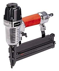 Einhell Druckluft-Tacker DTA 25/2 (8,3bar max., Alu-Druckguss Gehäuse, rutschsicherer Handgriff, inkl. Zubehör, Klammer-/Nagelset & Transportkoffer)