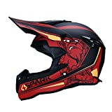 WZFC Crosshelm Motocross Enduro Downhill Helm Motorradhelm Integralhelm (Model-Spark),M
