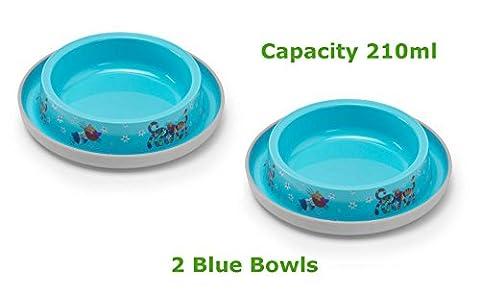 2Blau Katze Schalen 4Farben erhältlich Lebensmittel Wasser Dish Füttern Kätzchen