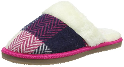 Dunlop Anastaise, Pantofole Donna Rosa (Fuchsia)