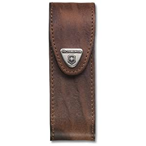 41nNPOOiAhL. SS300  - Victorinox Leather Belt Pouch with Hook-and-Loop Fastener Leather Belt Pouch With Hook-and-loop Fastener - Brown, N/A