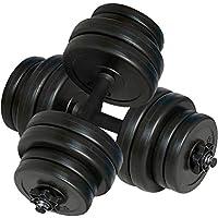 Tidyard Juego de Mancuernas Ajustables Ejercicio Casero y Fitness con Pesas Intercambiables 2 X 15 kg