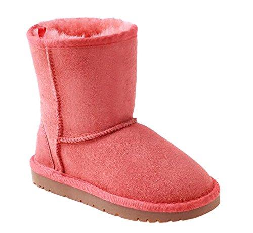 OZwear UGG Klassische Mid-Rohr Schnee Stiefel Kinder Stiefel Rosa (US Toddler 9M/10M)(UK 8/9)(AU 9/10)(EU 26) - Stiefel Uggs Für Kleinkinder