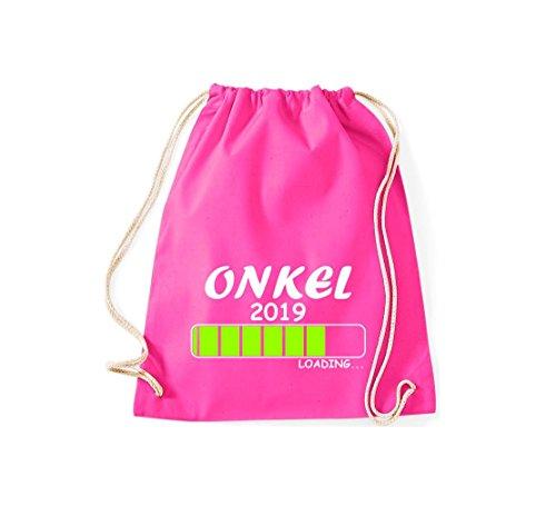 ShirtInStyle Gym Sack Turnbeutel Loading ONKEL 2019 Pink