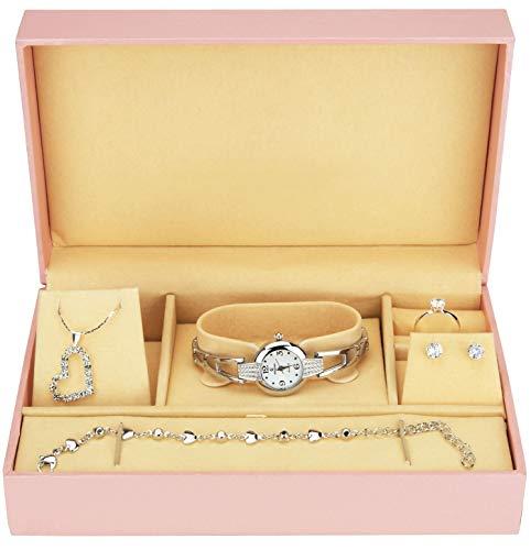 Caja de Regalo Reloj Mujer - Juegos de Joyas- Collar-Anillo- Pendientes