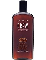 AMERICAN CREW24-HOUR DEODORANT BODY WASH Gel douche fraîcheur 24 heures pour le corps, 450ml