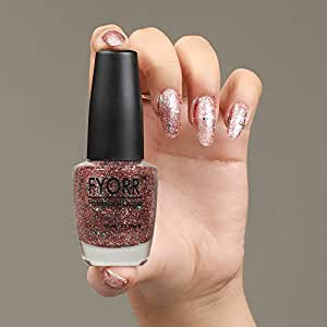 FYORR Daimond Shine 3 Season Long Lasting Glitter Nail Paint, 15 ml