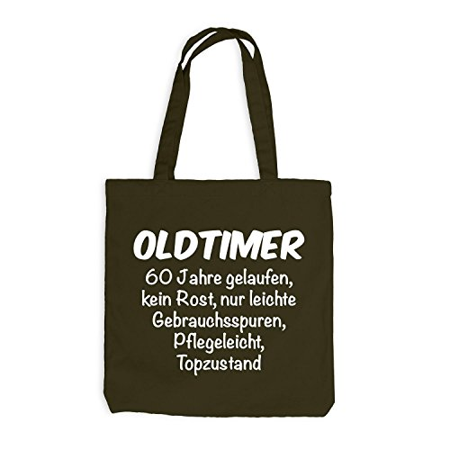 Jutebeutel 60 Jahre Fun Years 60 Oldtimer Geburtstag Geschenkidee Olive Birthday Fpw4FgPq