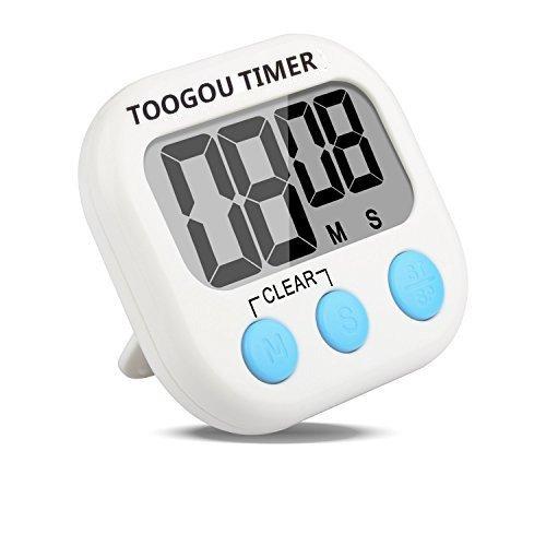 Large LCD Digital Küche Kochen Timer Count-Down bis Uhr lauter Alarm magnetisch blau