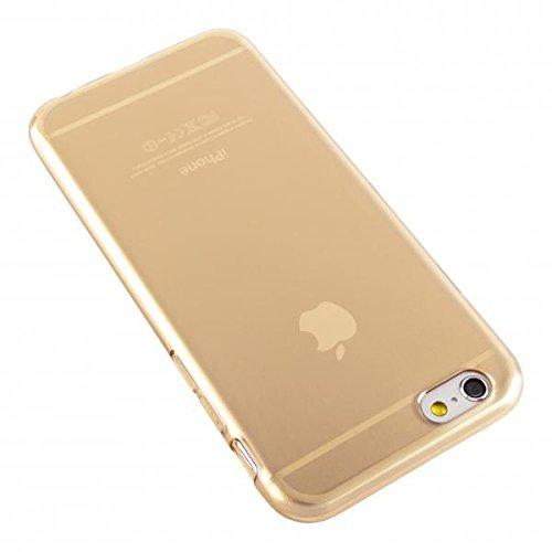 ECENCE APPLE IPHONE 6 6S (4,7) SLIM TPU CASE SCHUTZ HÜLLE HANDY TASCHE COVER TRANSPARENT DURCHSICHTIG CLEAR 12020501 Gold Jelly