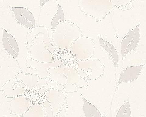 Schöner Wohnen Vliestapete Tapete floral 10,05 m x 0,53 m beige creme weiß Made in Germany 959041