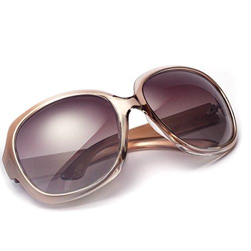 AkoaDa Sonnenbrille Damen Polarisiert Anti-Reflexion 100% UV 400 Augenschutz Brille, Schwarz Sonnenbrille für Fahren, Angeln, Reisen, Outdoor... (Champagner)