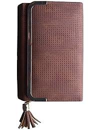 b29ed696ffa5 Insasta Women Case Wallet Clutch Purse Cards Cash Pouch Handbag - Saddle  Brown