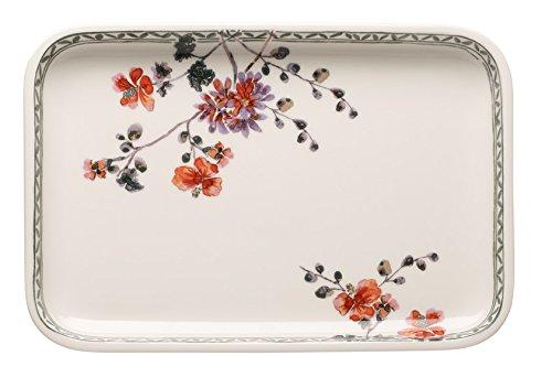 Villeroy & Boch Artesano Provençal Verdure Plat de service rectangulaire, 32 x 22 cm, Porcelaine Premium, Blanc/Multicolore