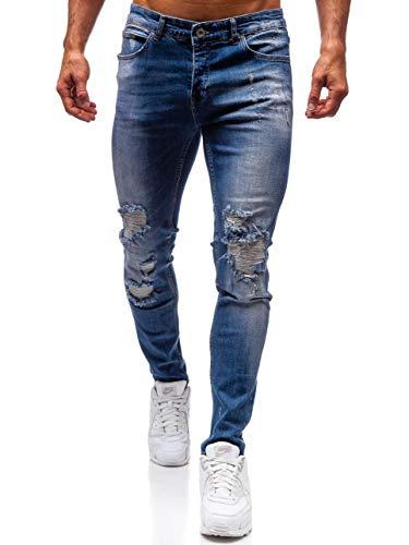 BOLF Herren Jeanshose Basic Casual Style Otantik 1009 Blau 31 [6F6] | 05902646940168