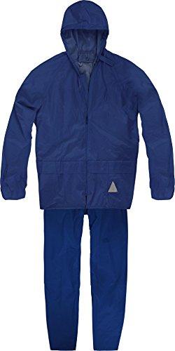 normani Wasserdichter Erwachsenen Regenanzug (Jacke und Hose) Farbe Marine Größe M