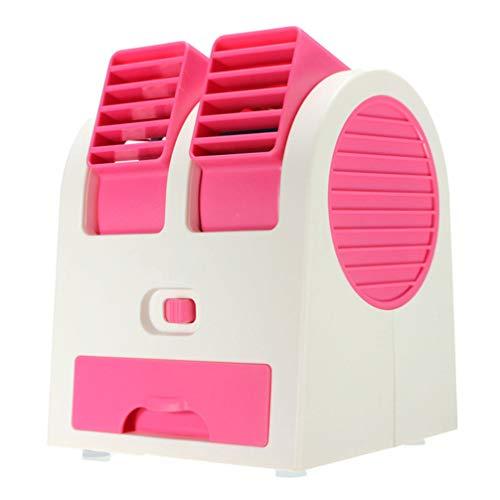 SOLUCKY Mini Air Con, USB-Klimaanlagen Wasserkühlung Staubsammler Fan Tragbare Mini Klimaanlage für Auto, Zuhause,Pink