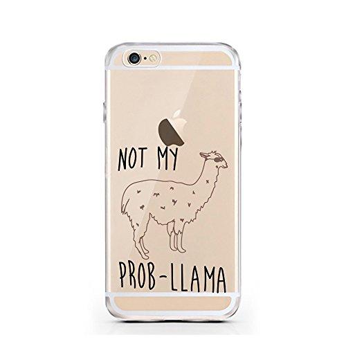 iPhone 6 6S Hülle von licaso® für das Apple iPhone 6 aus TPU Silikon Not my PROB-LLAMA Lama Spucke Style Muster ultra-dünn schützt Dein iPhone 6S & ist stylisch Schutzhülle Bumper in einem (iPhone 6 6 PROB-LLAMA
