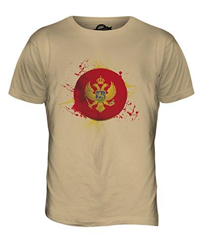 CandyMix Montenegro Fußball Herren T Shirt Sand