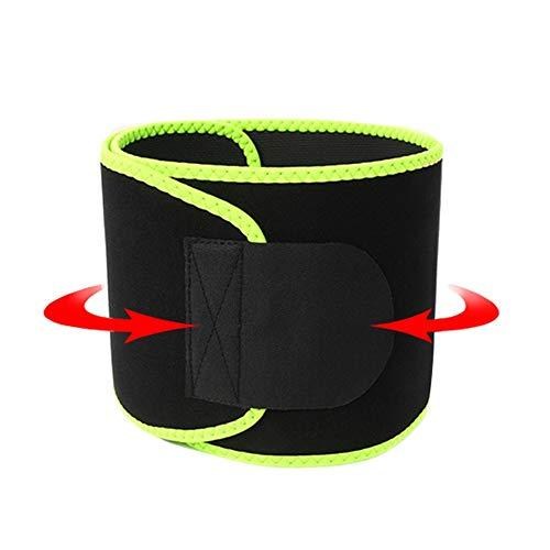 Bauchweggürtel Fitnessgürtel Fitness Gürtel Schwitzgürtel Zur Fettverbrennung Verstellbarer Neopren Sauna Gewichthebergürtel Schweiß Ab Gürtel Taillen Taillen Trimmer Fluorescent Green-Large