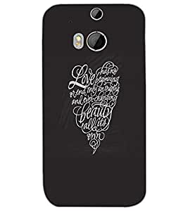 HTC ONE M8 EYE HEART Back Cover by PRINTSWAG