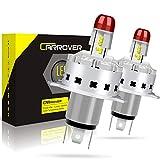 Ampoule H4 LED 10400LM, Phares pour Voiture et Moto, Lampe de Remplacement pour Ampoule Halogène et Lampes au Xénon, 12V-24V, 6000K, 2 Ampoules
