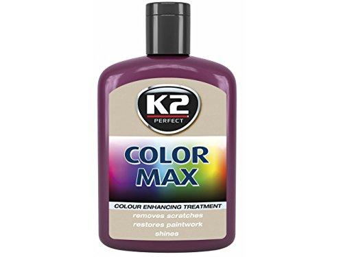 K2 COLOR MAX 200ml Weinrot Autopolitur Carnauba Wachs Farbpolitur KFZ Politur