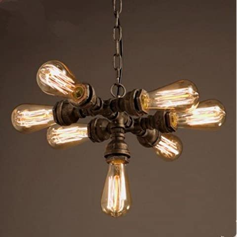 LYNDM Edison acqua tubo pendente punti luce con 7 luci Retro Vintage Loft lampada industriale Lampadario Lampen Lamparas(#DD2286)