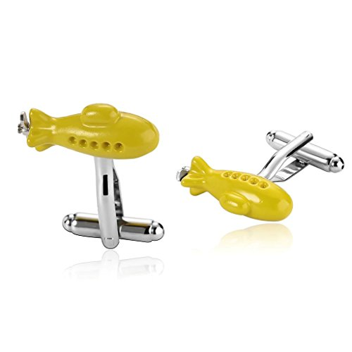 amdxd-jewelry-stainless-steel-men-cufflinks-yellow-traditional-combat-aircraft-cufflinks-seaplane