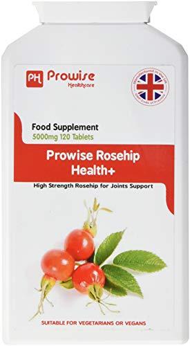 rosehip health + 5000mg 120 compresse - prodotto garantito dal regno unito gmp qualità garantita - adatto a vegetariani e vegani di prowise healthcare
